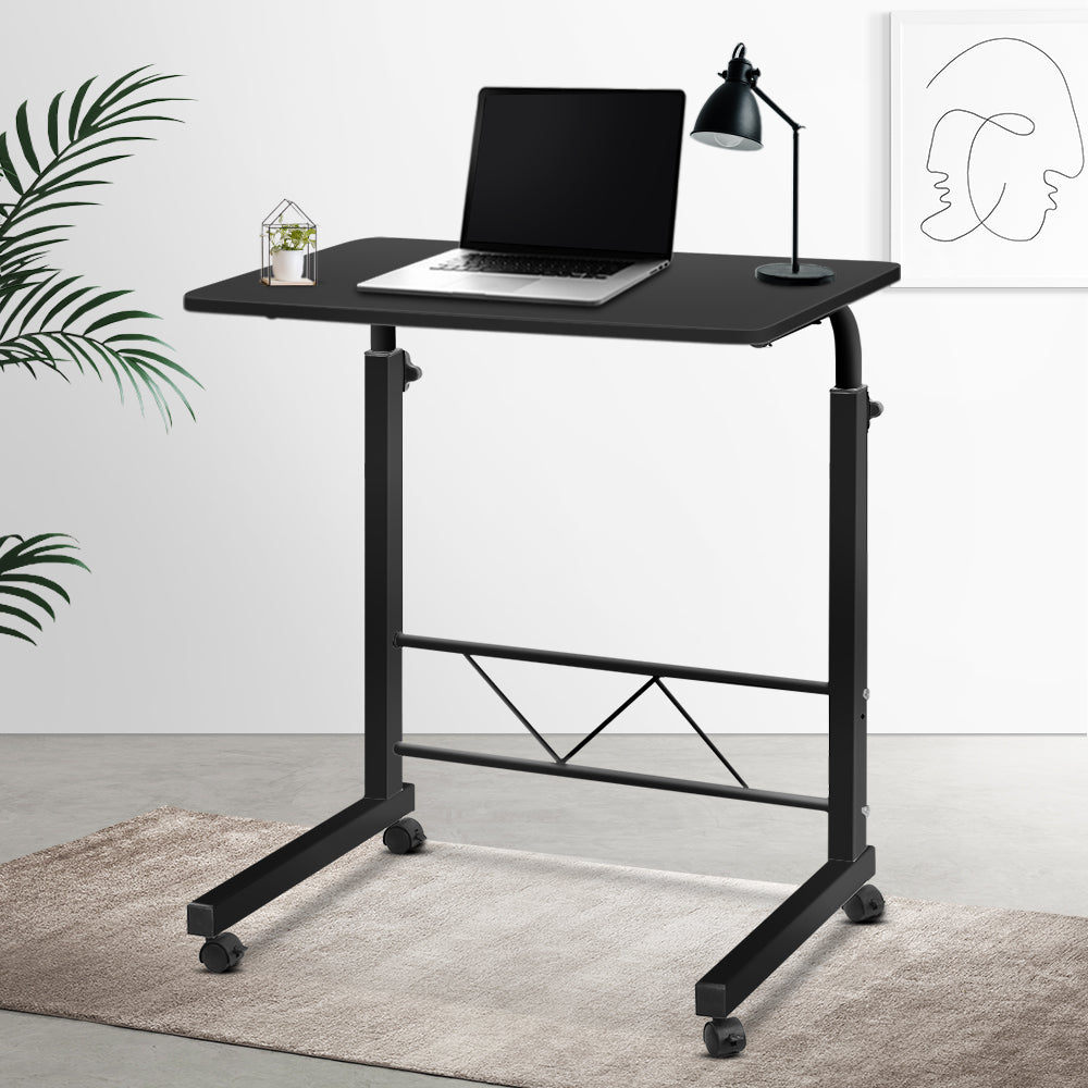 Portable Adjustable Wooden Laptop Stand - Black - (excl-Regional QLD & WA, Far Nth QLD, NT & WA Remote)