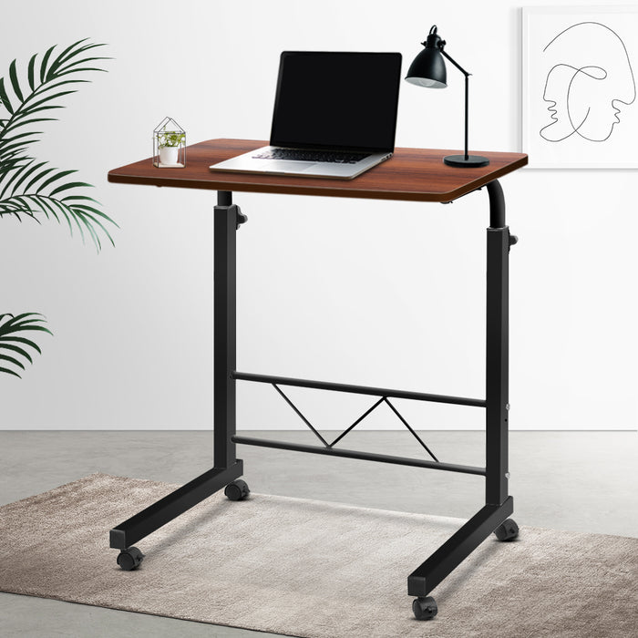 Mobile Laptop Desk Dark Wood - (excl-Regional QLD & WA, Far Nth QLD, NT & WA Remote)