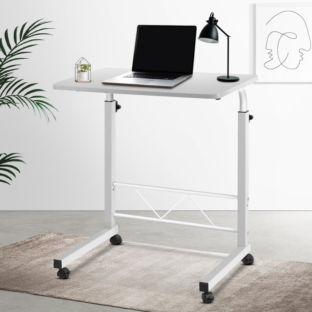 Portable Adjustable Wooden Laptop Stand - White - (excl-Regional QLD & WA, Far Nth QLD, NT & WA Remote)
