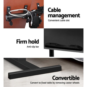 Rotating Mobile Laptop Adjustable Desk Black - (excl-Regional QLD & WA, Far Nth QLD, NT & WA Remote)