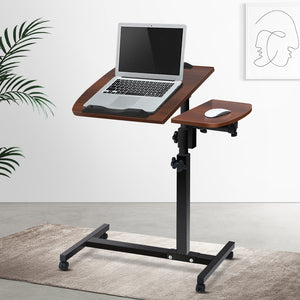 Rotating Mobile Laptop Adjustable Desk Walnut - (excl-Regional QLD & WA, Far Nth QLD, NT & WA Remote)