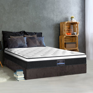 Giselle Bedding Double Size Mattress Euro Top Bed Bonnell Spring Foam 21cm  - (Only available in VIC, NSW, SA & ACT)