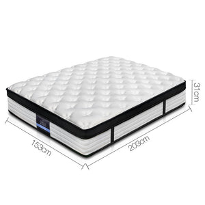 Giselle Bedding Euro Top Mattress - Queen 31cm - (Not available WA, NT and Far NQ)