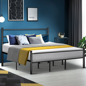 Artiss Metal King Bed Frame -  (excl-Regional QLD & WA, Far Nth QLD, NT & WA Remote)
