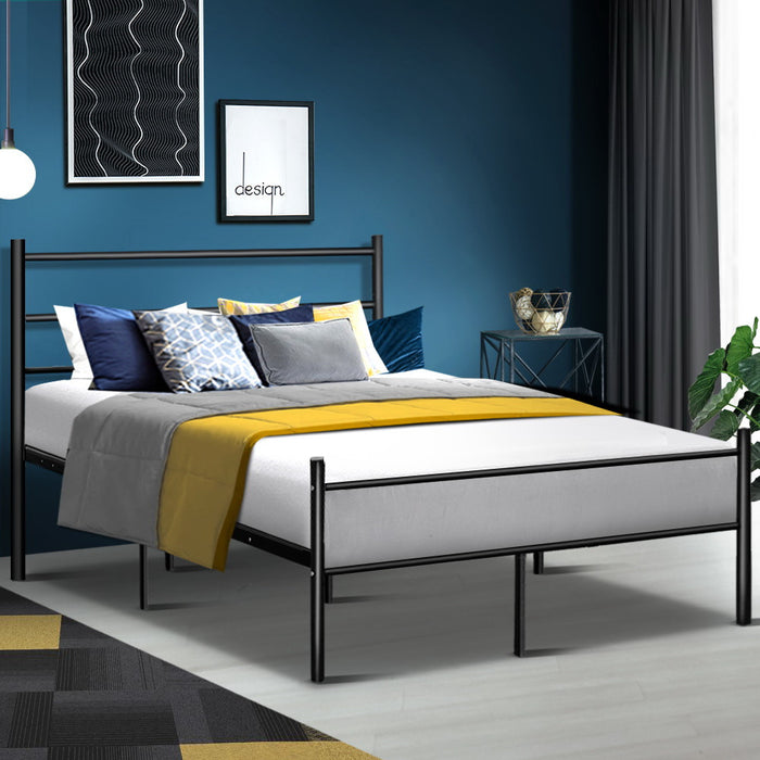 Artiss Metal Queen Bed Frame - Black (excl-Regional QLD & WA, Far Nth QLD, NT & WA Remote)