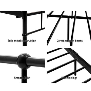 Queen Metal Bed Frame Black - (Not available in QLD, TAS, WA & NT)