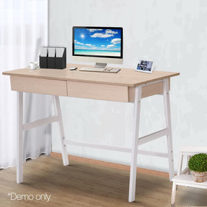 Computer Desk with Drawers Oak