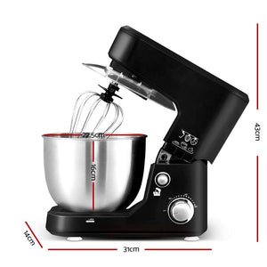Devanti Electric Stand Mixer Food Mixers Egg Beater Kitchen Cake Aid Whisk Bowl