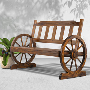 Gardeon Wooden Wagon Wheel Chair (Not available in NT or any remote/regional areas)