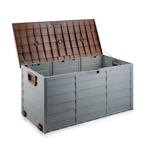 Giantz 290L Outdoor Storage Box - Brown - (Not available in NT or any remote/regional areas)