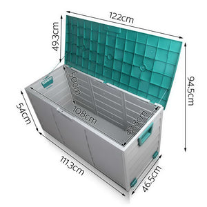 Giantz 290L Outdoor Storage Box - Green - (Not available in NT or any remote/regional areas)