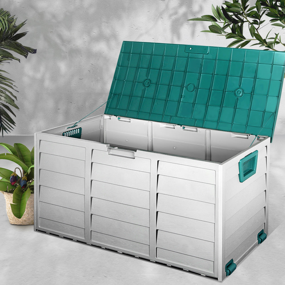 Giantz 290L Outdoor Storage Box - Green - (excl-Regional QLD & WA, Far Nth QLD, NT & WA Remote)