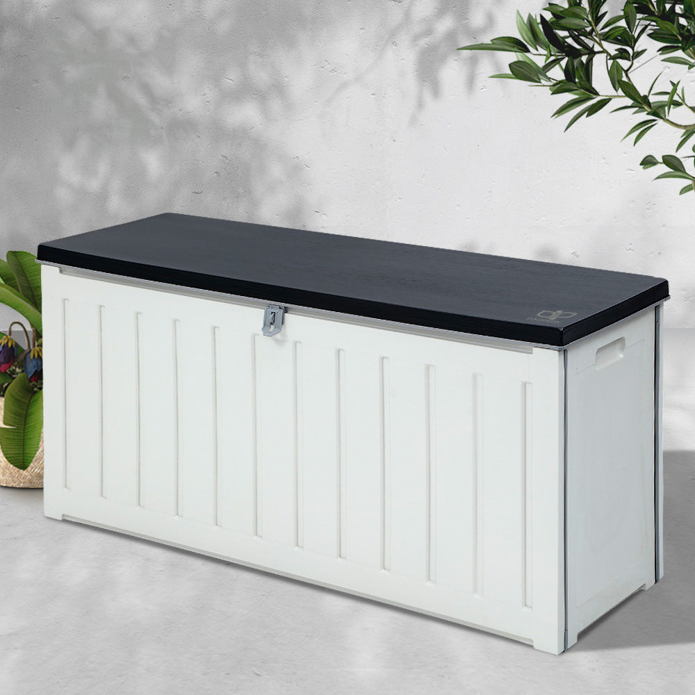 Gardeon Outdoor Storage Box Bench Seat Lockable 240L (excl-Regional QLD & WA, Far Nth QLD, NT & WA Remote)