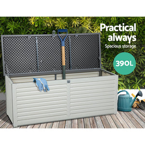 Gardeon Outdoor Storage Box Bench Seat Toy Tool Sheds 390L (excl-Regional QLD & WA, Far Nth Qld, NT & WA Remote)