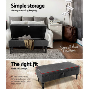 Multi-Functional Storage Ottoman Grey