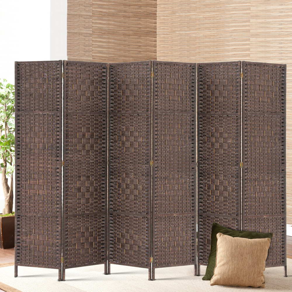 Artiss 6 Panel Room Divider - Brown