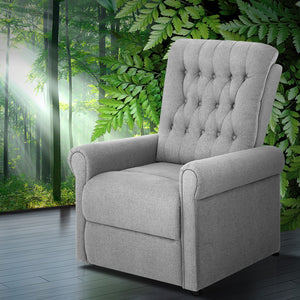 Artiss Massage Recliner Chair Electric Armchair 8 Point Heated Grey - (excl-Regional QLD & WA, Far Nth QLD, NT & WA Remote)