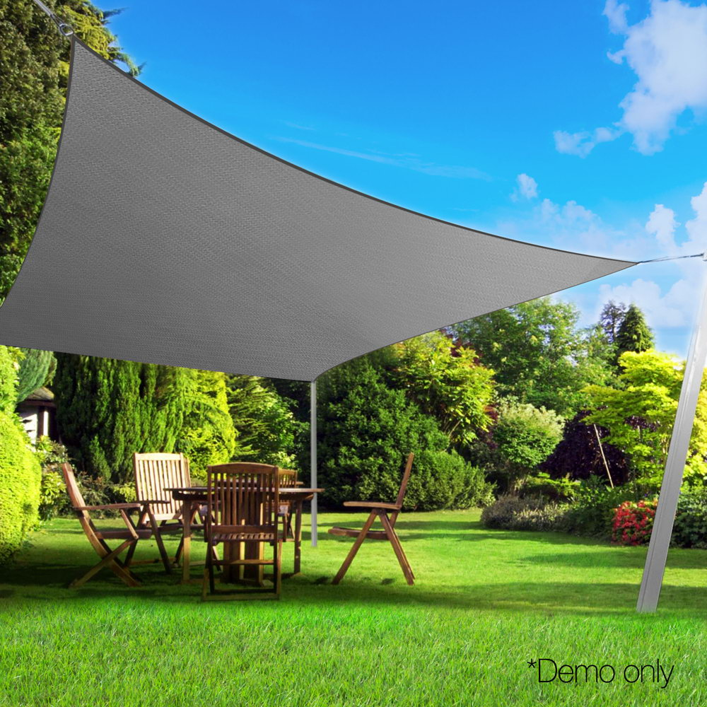 Instahut Sun Shade Sail Cloth Shadecloth Outdoor Canopy Rectangle 280gsm 4x5m