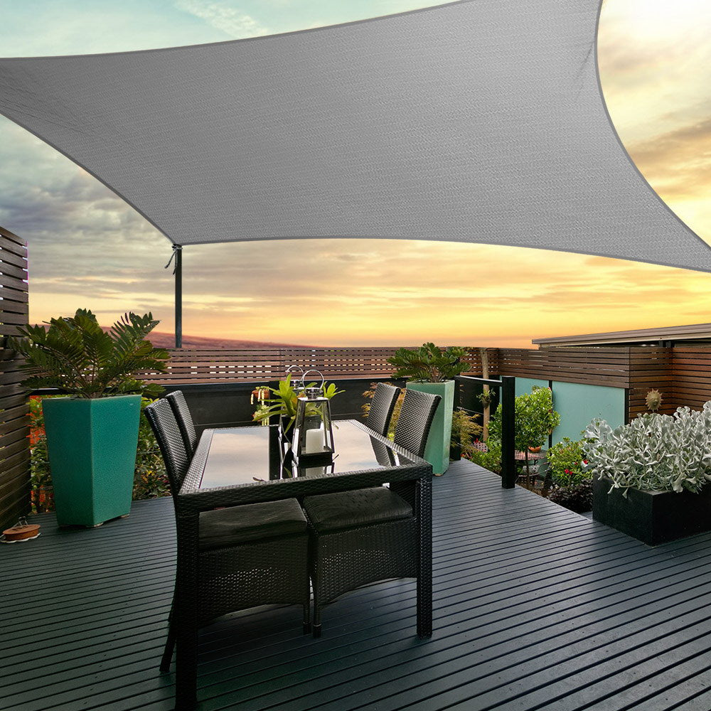 Instahut Sun Shade Sail Cloth Shadecloth Outdoor Canopy Rectangle 280gsm 4x6m