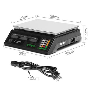40KG Digital Kitchen Scale Electronic Scales Shop Market Commercial
