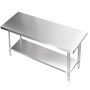 304 Stainless Steel Kitchen Work Bench Table 1524mm - - (Not available in TAS, WA & NT)