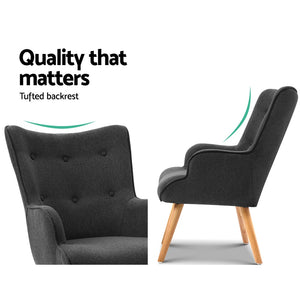 Artiss LANSAR Lounge Accent Chair - (Only available in VIC, NSW, SA & ACT)