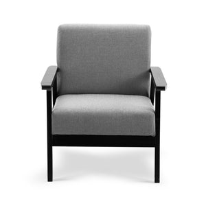 Fabric Dining Armchair Black and Grey