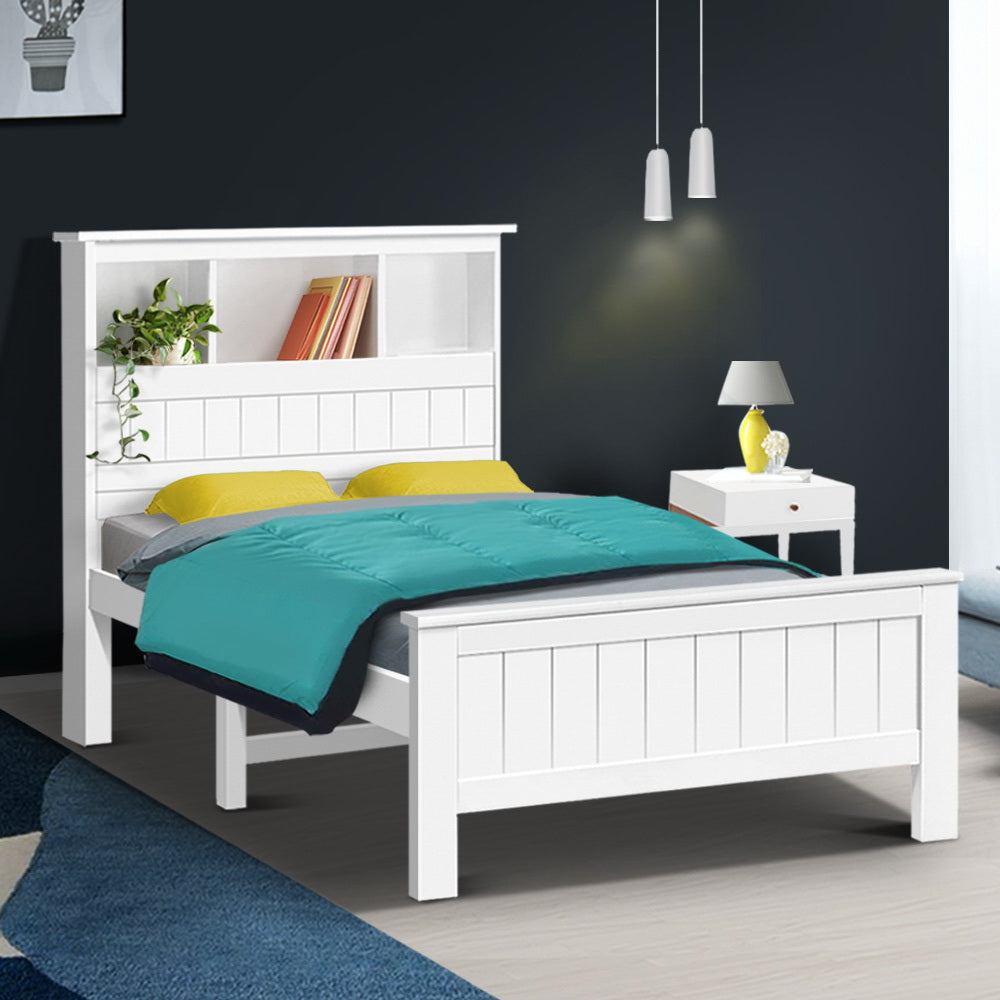 Artiss King Single Wooden Timber Bed Frame - (Not available in QLD,TAS, WA & NT)