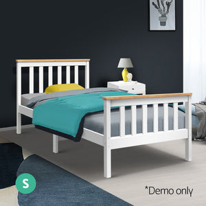 Artiss Single Wooden Bed Frame Bedroom Furniture Kids  (excl-Regional QLD & WA, Far Nth Qld, NT & WA Remote)