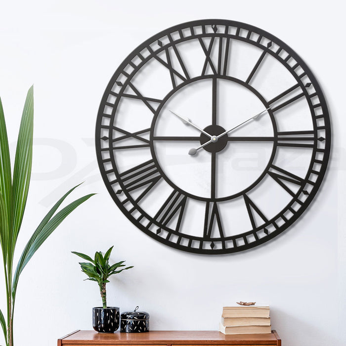 Wall Clock Extra Large Modern 3D Home Office Kitchen Decor - 80cm