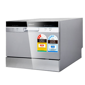 Devanti Electric Benchtop Freestanding Dishwasher (excl-Regional QLD & WA, Far Nth QLD, NT & WA Remote)