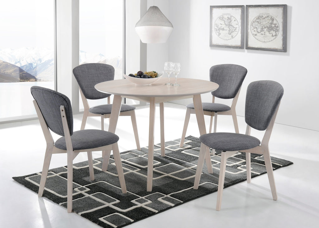 Round Dining Table Solid hardwood White Wash - (Only available in VIC, NSW, SA & ACT)
