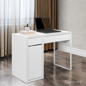 Office Study Computer Desk Cabinet White