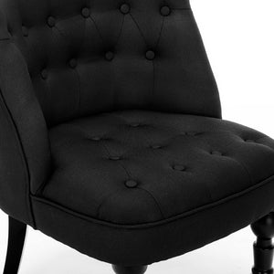 French Provincial Lorraine Accent Chair Fabric Black