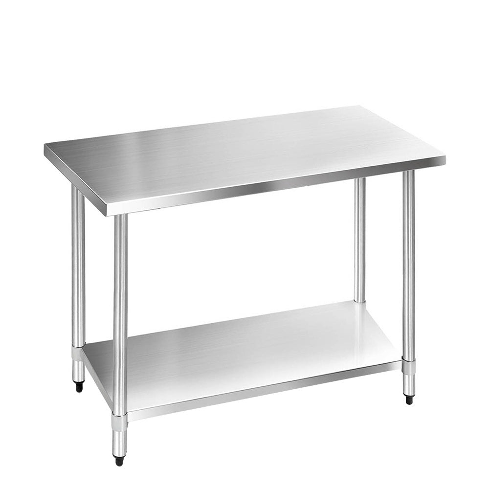 304 Stainless Steel Kitchen Work Bench Table 1219mm   - (excl FNQ, NT & Regional WA)