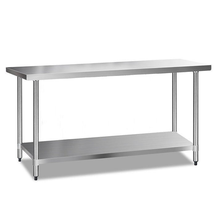 304 Stainless Steel Kitchen Work Bench Table 1829mm - - (Not available in TAS, WA & NT)