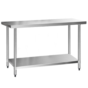 430 Stainless Steel Kitchen Work Bench Table 1524mm - (Not available WA, NT and Far NQ)
