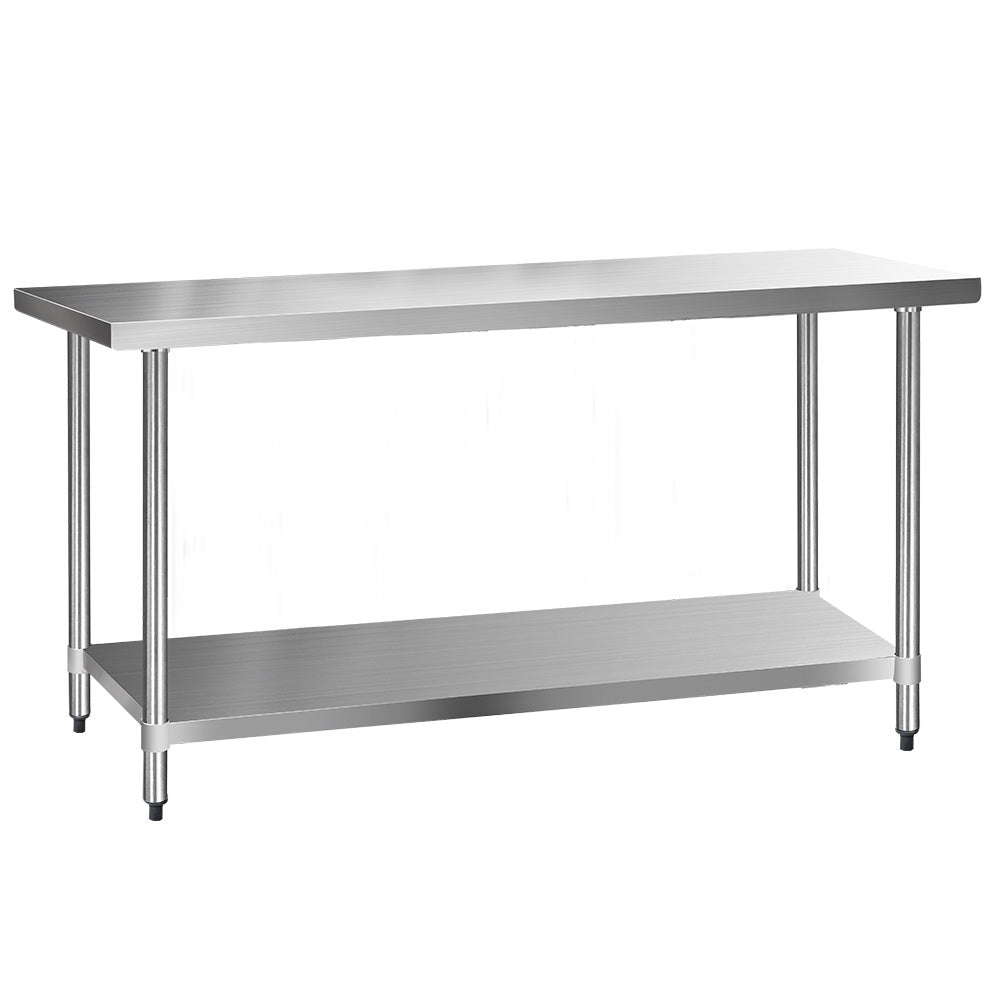 610 x 1829mm Commercial Stainless Steel Kitchen Bench - (Not available WA, TAS, NT and Far NQ)