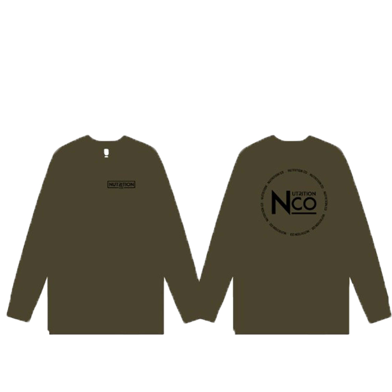Nutrition Co Black Circular Long Sleeve Army