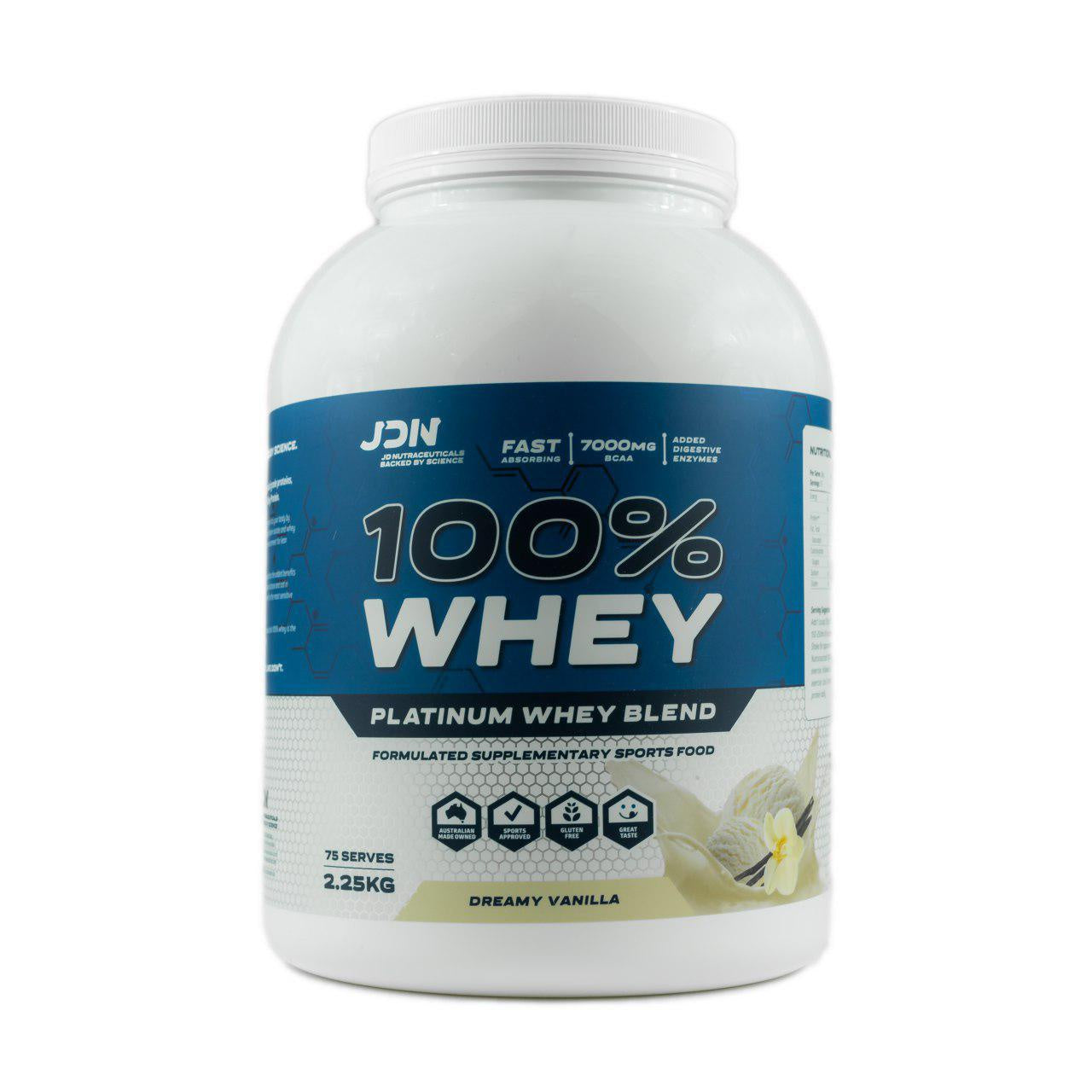 JDN 100% Whey 2.25kg, JD Nutraceuticals - Nutrition Co Australia