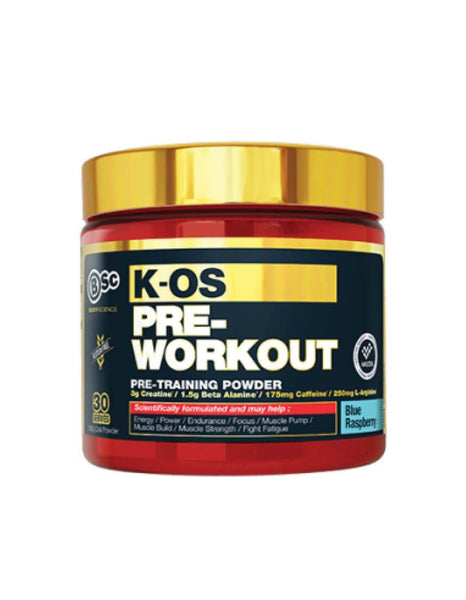 BSC K-OS Pre Workout 180g, Body Science - Nutrition Co Australia