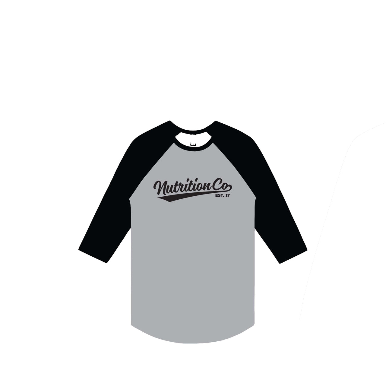 Nutrition Co Black Baller Grey Raglan Tee