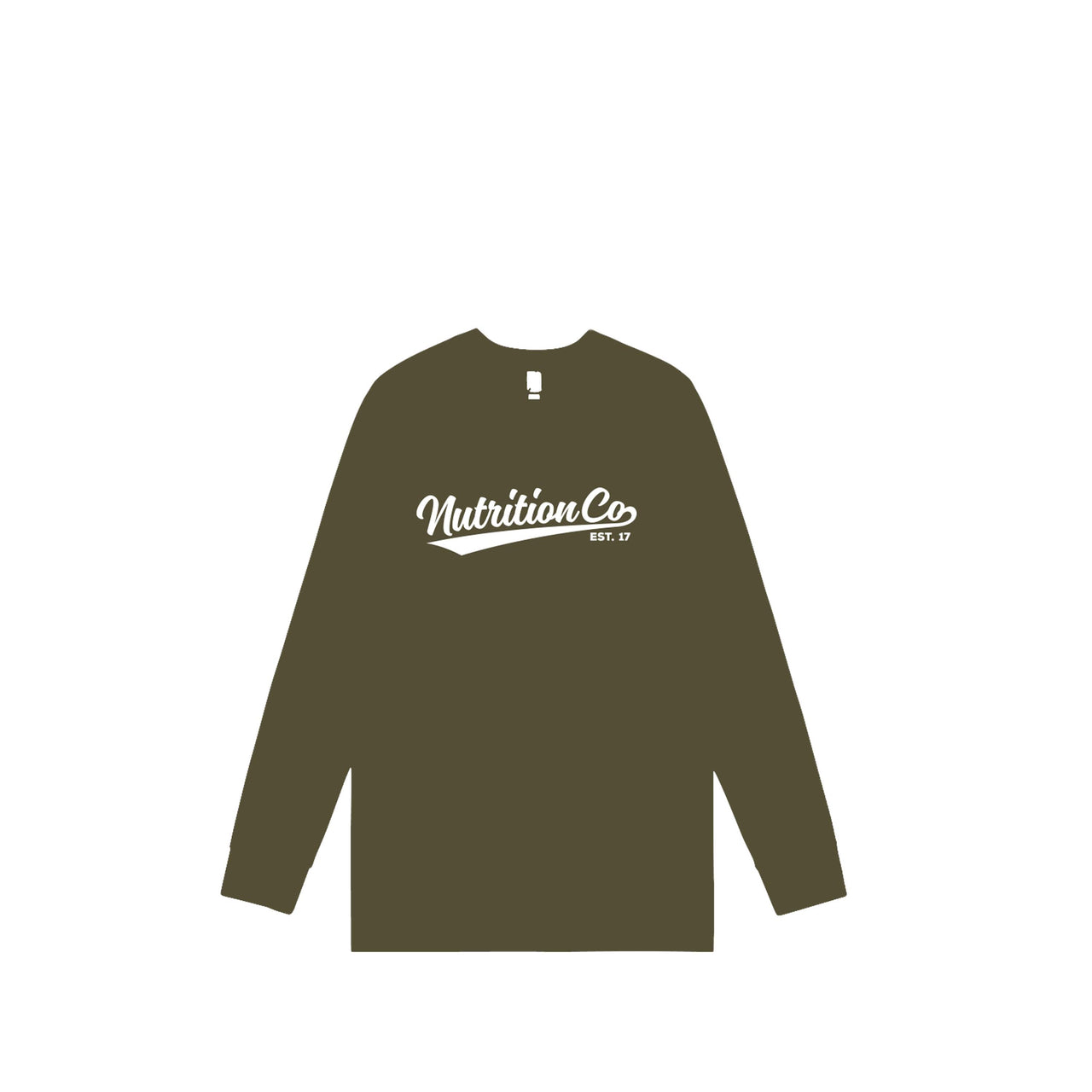 Nutrition Co White Baller Long Sleeve Army