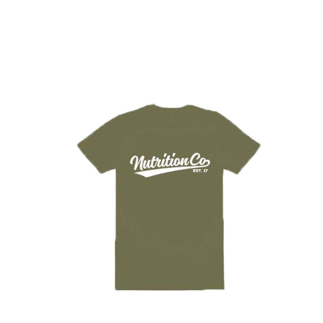 Nutrition Co white Baller Army Marle Tee