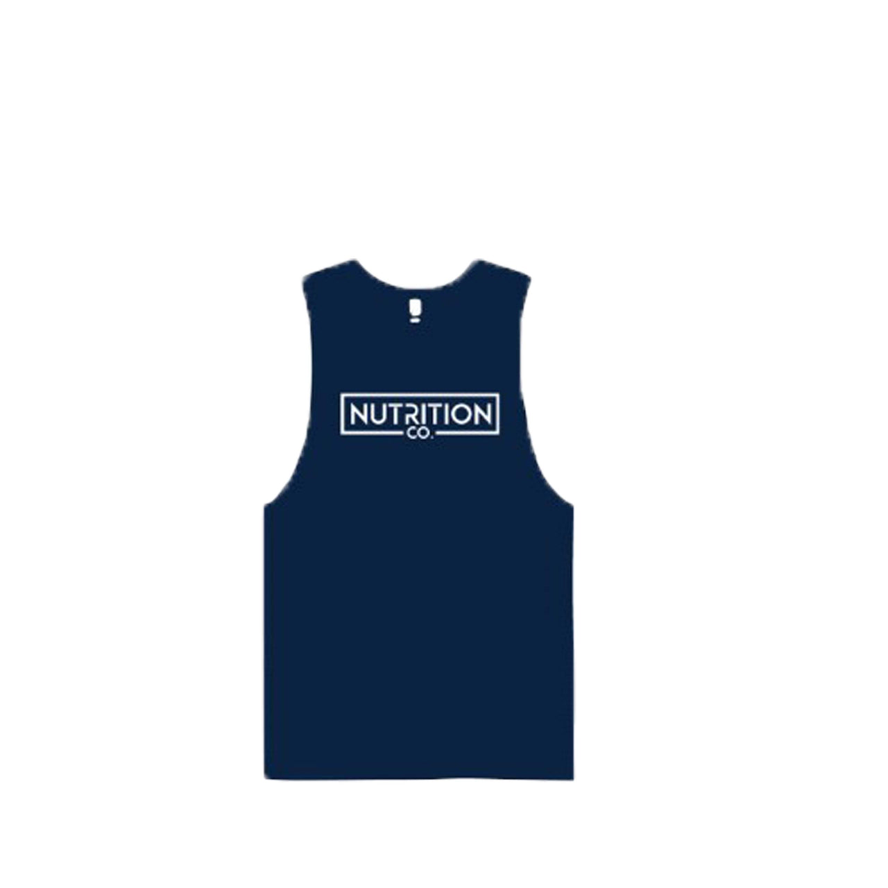 Nutrition Co white Original Navy Tank