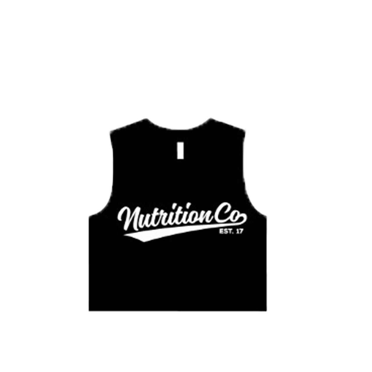 Nutrition Co White Baller Crop Tank Black