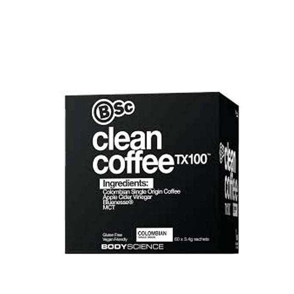 BSC Clean Coffee 60 Serves, Body Science - Nutrition Co Australia
