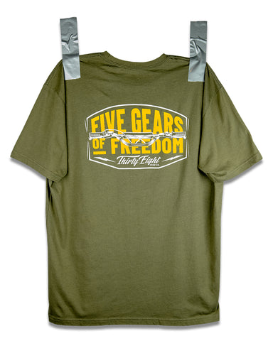Five Speed Tee Olive