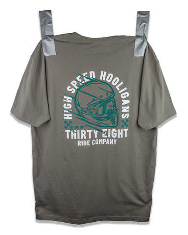 High Speed Hooligans Tee Grey