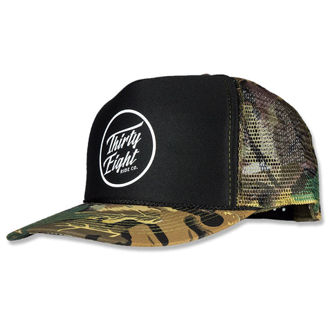 Branded Trucker Snapback Tree Camo/Black